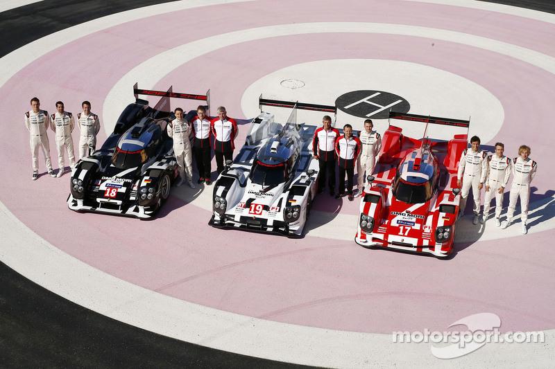 Der Porsche 919 Hybrid 2015 wird einzig in Le Mans in drei unterschiedlichen Farben auflaufen