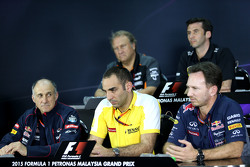 Cyril Abiteboul, Renault Sport F1 en Christian Horner, Red Bull Racing, Sporting Director
