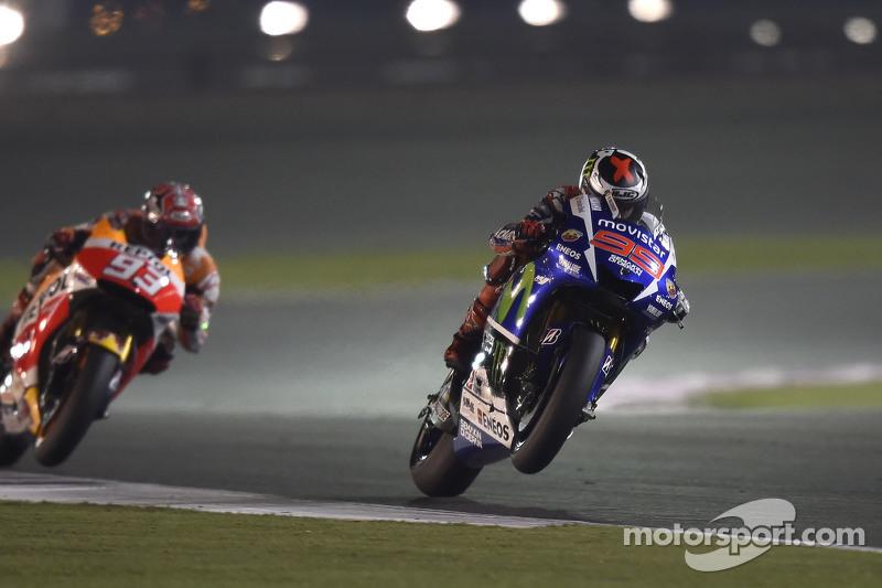 Jorge Lorenzo, Yamaha Factory Racing, und Marc Marquez, Repsol Honda Team