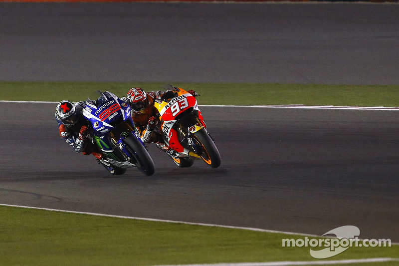 Jorge Lorenzo, Yamaha Factory Racing y Marc Marquez, Repsol Honda Team;