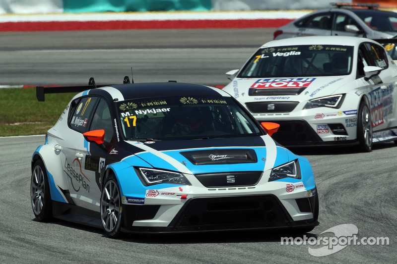 Michel Nykjaer, SEAT Leon Racer, Target Competition, dan Lorenzo Veglia, Liqui Moly Team Engstler, S