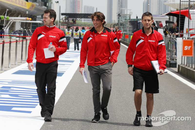 Roberto Merhi, Manor F1 Team, beim Trackwalk