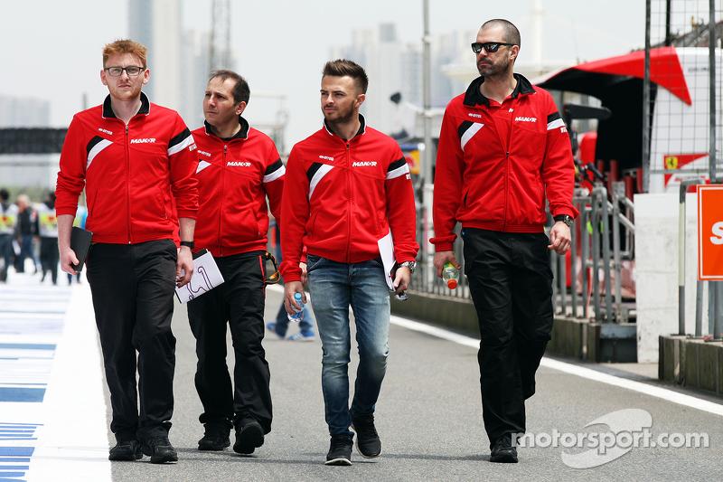 Will Stevens, Manor F1 Team, beim Trackwalk