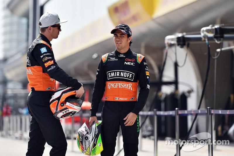 Nico Hulkenberg, Sahara Force India F1 con su compañero Sergio Pérez, Sahara Force India F1