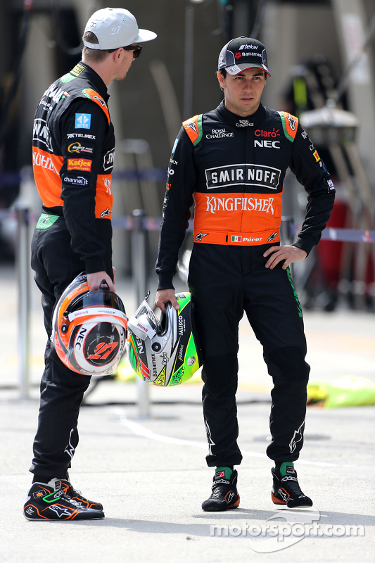 Nico Hulkenberg, Sahara Force India y Sergio Pérez, Sahara Force India