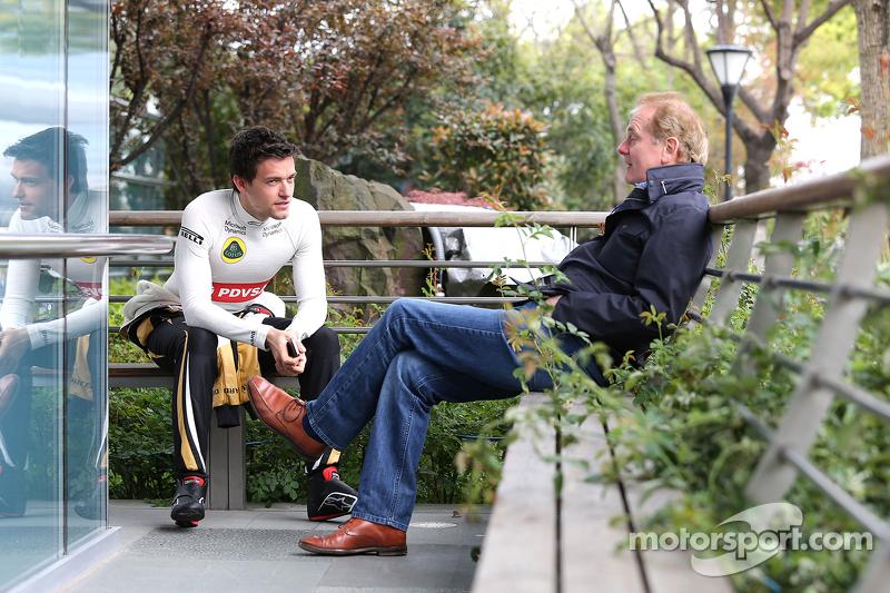 Jolyon Palmer, Lotus F1 Team and his father Johnathan