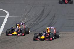 Даниил Квят, Red Bull Racing RB11, и Даниэль Риккардо, Red Bull Racing RB11