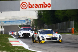 #99 ROWE Racing Mercedes SLS AMG GT3: Nico Bastian, Klaus Graf, Stef Dusseldorp