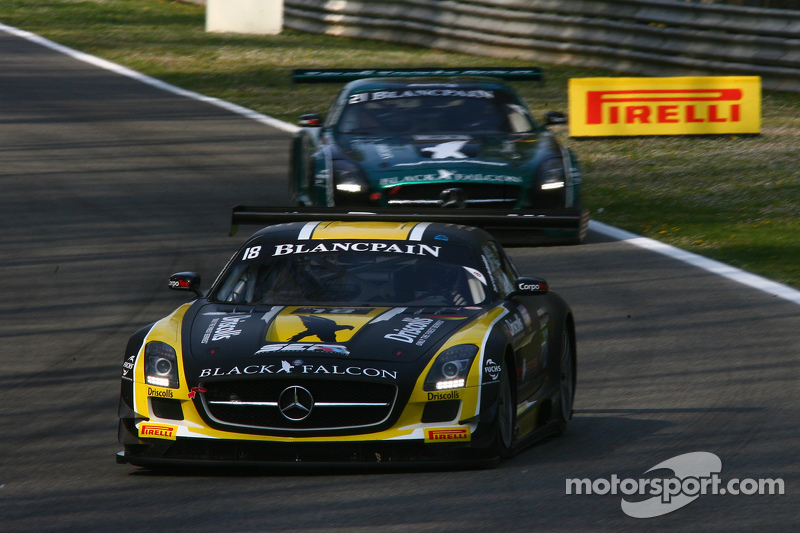 #18 Black Falcon Mercedes SLS AMG GT3: Oliver Morley, Sean Johnston, Maro Engel