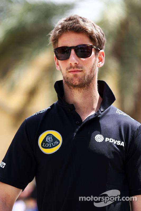 Romain Grosjean Lotus F1 Team.