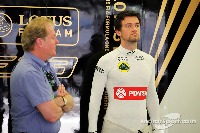 Jolyon Palmer, Lotus F1 Team Test and Reserve Driver with his father Jonathan Palmer,