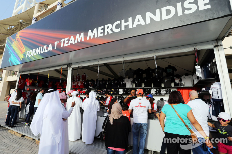 Merchandise stand for the fans