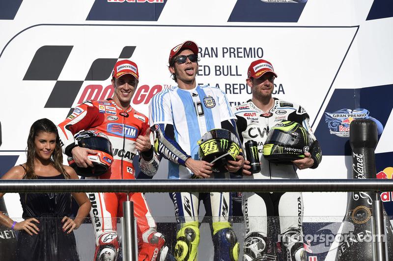 2015: 1. Valentino Rossi, 2. Andrea Dovizioso, 3. Cal Crutchlow