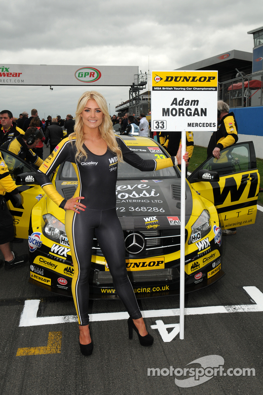 Wix Racing Grid girl at Donington Park