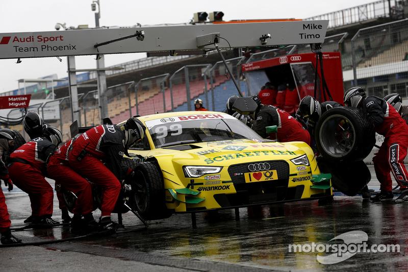 Boxenstopp für Mike Rockenfeller, Audi Sport Team Phoenix, Audi RS 5 DTM