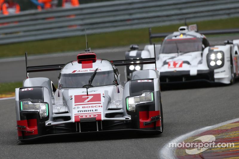 #7 Audi Sport Team Joest Audi R18 e-tron quattro Hybrid: Marcel Fassler, Andre Lotterer, Benoit Trel