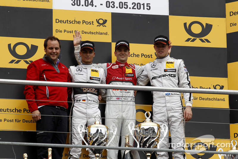 Podium, 2nd Pascal Wehrlein, HWA AG Mercedes-AMG C63 DTM, 1st Jamie Green, Audi Sport Team Rosberg