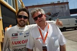 Сергей Афанасьев и Евгений Малиновский, глава Lukiol Racing