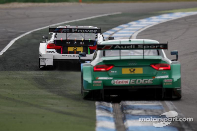 Marco Wittmann, BMW Team RMG, BMW M4 DTM, und Edoardo Mortara, Audi Sport Team Abt, Audi RS 5 DTM