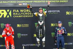Podium: 1. Petter Solberg, 2. Reinis Nitiss, 3. Timmy Hansen