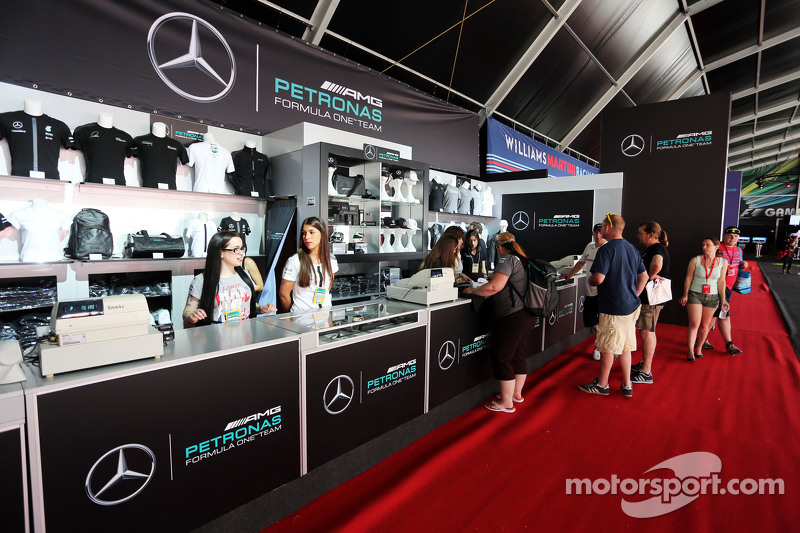 Mercedes AMG F1 Merchand ise Stand