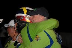 Tracy Krohn and Jorg Bergmeister celebrate