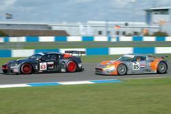 #63 Team Modena  Aston Martin DBR9: Antonio Garcia, Peter Hardman, #85 Spyker Squadron Spyker C8 Spyder GT-2R: Jeroen Bleekemolen, Jonny Kane