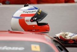 Stepane Ortelli's helmet (#62 Risi Competizione Ferrari 430 GT Berlinetta)