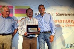 Winning team ART Grand Prix receive their trophy