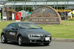 Alfa Romeo on display at Motegi