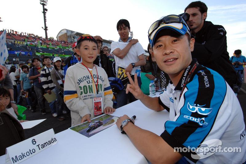 Makoto Tamada  firma autógrafos