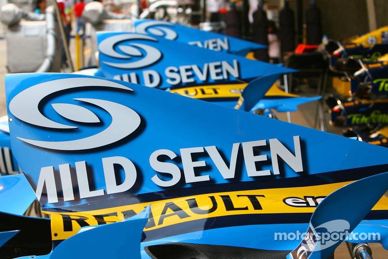 Cubiertas del motor Renault F1 Team