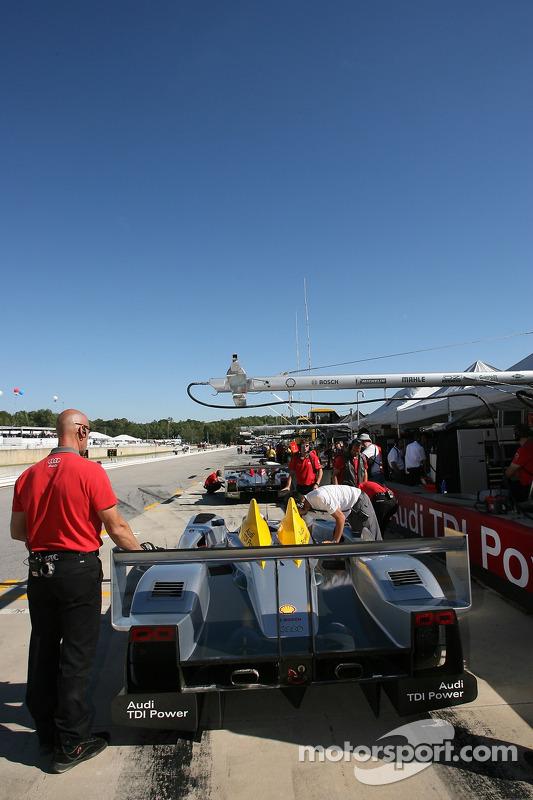 La ligne des stands d'Audi Sport North America