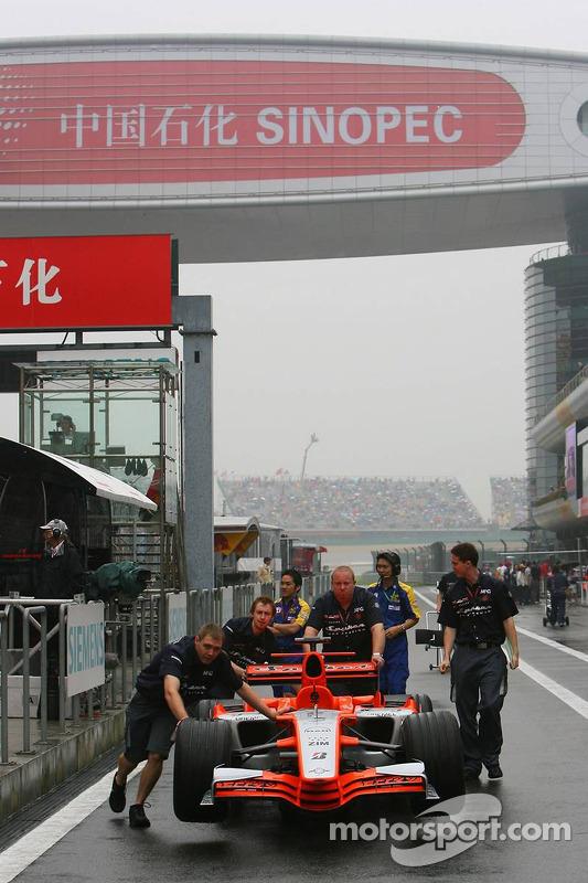 Sesión de fotos Spyker MF1 Racing