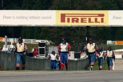 IMSA officials head to the pitlane