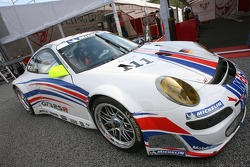 The new 2007 Porsche 911 GT3 RSR on display