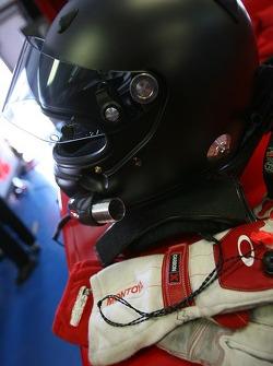 Helmet and gloves of Juan Pablo Montoya