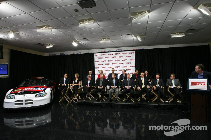 Conférence de presse d'ESPN : Le staff de diffusion et de production de la couverture du NASCAR par ESPN