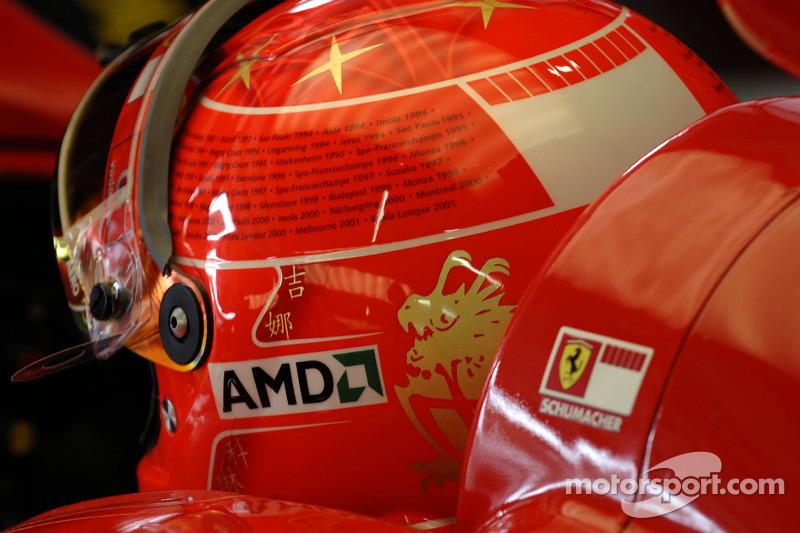 2006: su último casco como activo en Ferrari