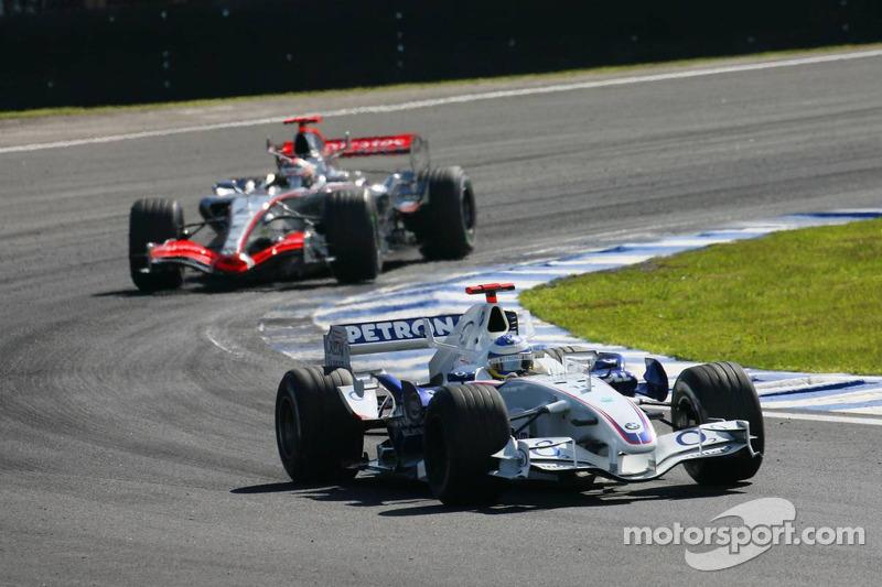 Nick Heidfeld y Kimi Raikkonen