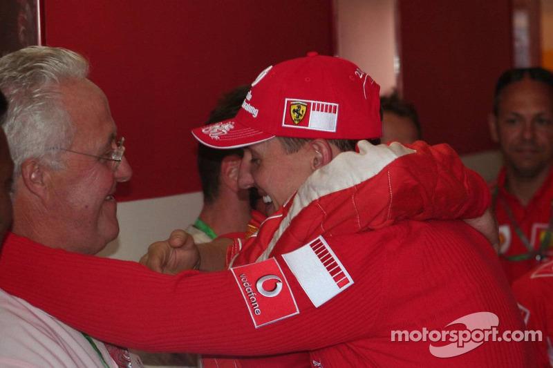 Michael Schumacher avec son père Rolf