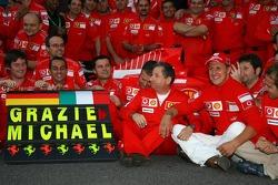 Михаэль Шумахер прощается с Ferrari