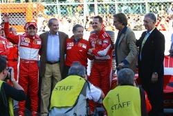 Felipe Massa, Jean Todt, Michael Schumacher, Luca di Montezemolo and Piero Ferrari