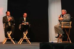 Ken Schrader, Jerry Punch and Terry Labonte