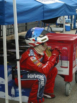 One of Scott Rigg's crew members waits on the next Pitstop