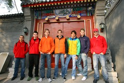 A1 GP drivers in Beijing