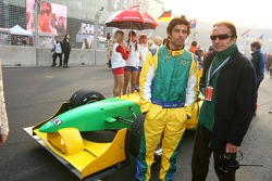 Raphael Matos mit Emerson Fittipaldi, Team Brasilien