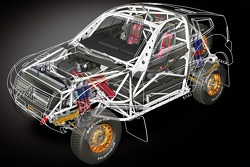 Team Repsol Mitsubishi Ralliart presentation in Paris: rendering of the new Mitsubishi Pajero / Montero Evolution MPR13