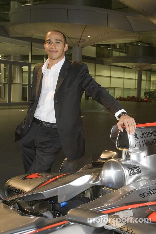 Lewis Hamilton at the McLaren Technology Centre