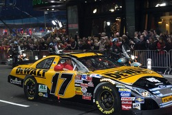 Matt Kenseth in the streets of New York for the Victory Lap